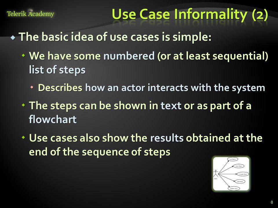 Use Case Informality (2)