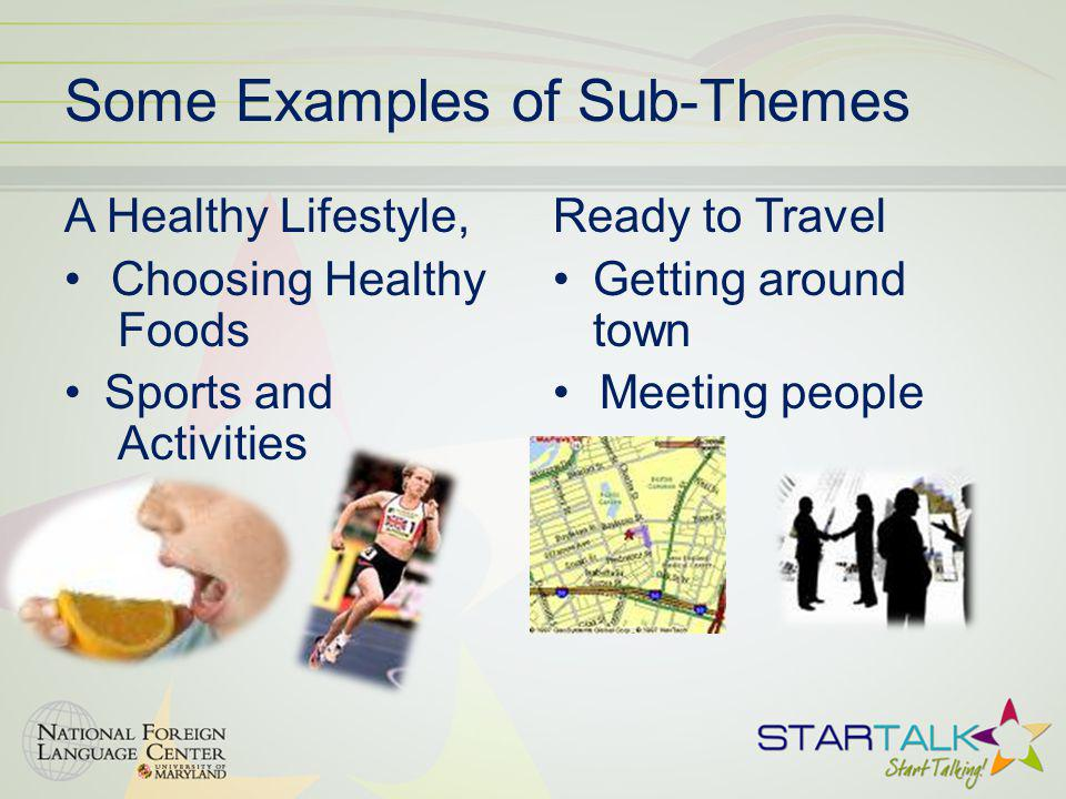 Some Examples of Sub-Themes