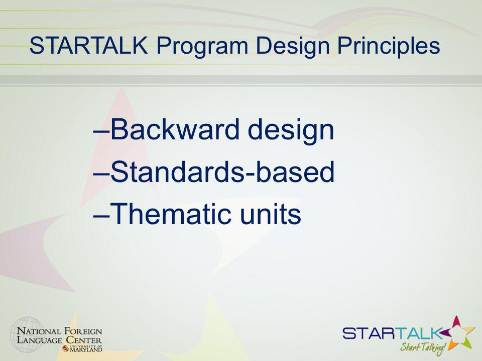STARTALK Program Design Principles