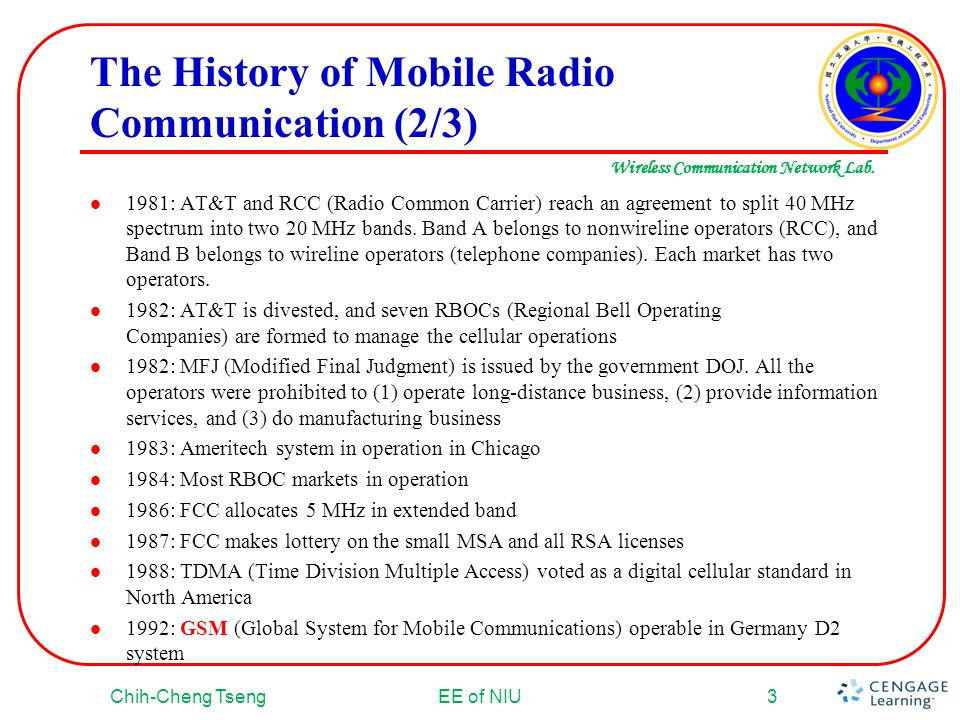 The History of Mobile Radio Communication (2/3)