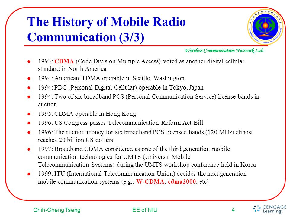 The History of Mobile Radio Communication (3/3)