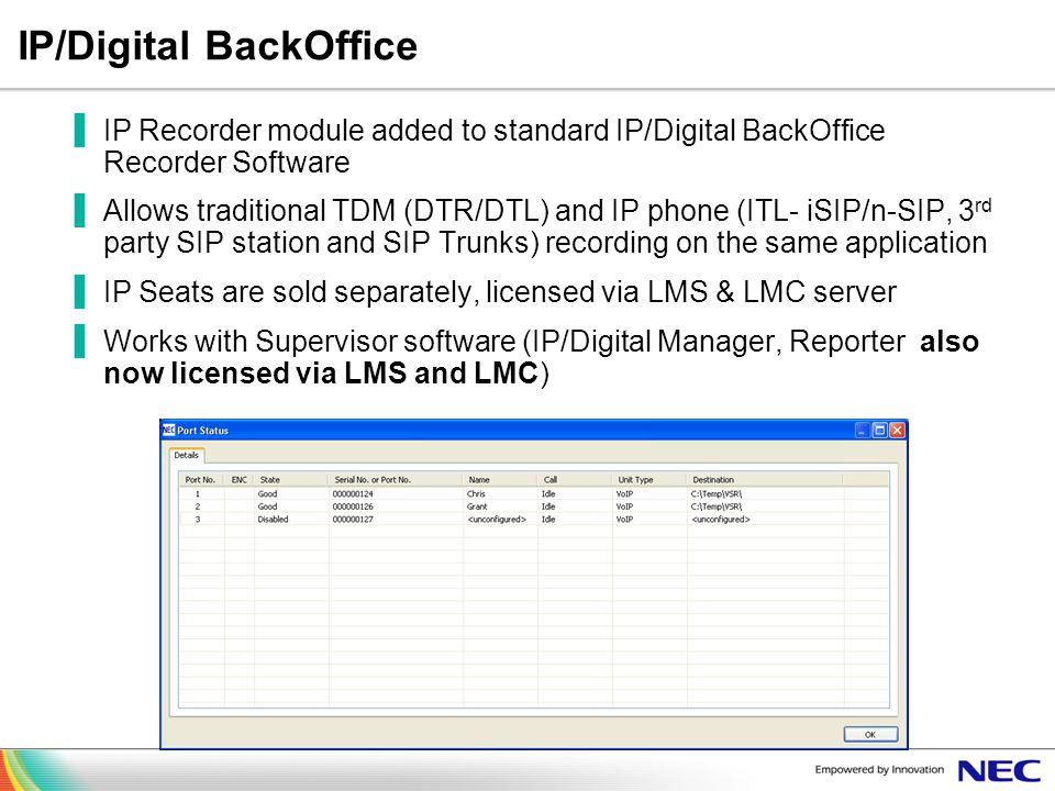 IP/Digital BackOffice