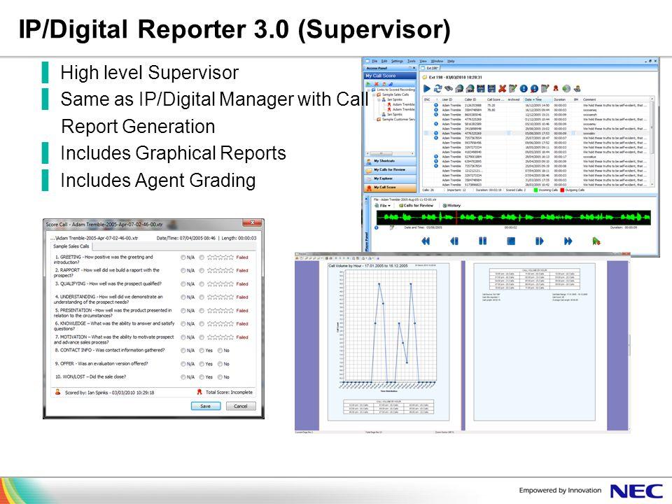 IP/Digital Reporter 3.0 (Supervisor)