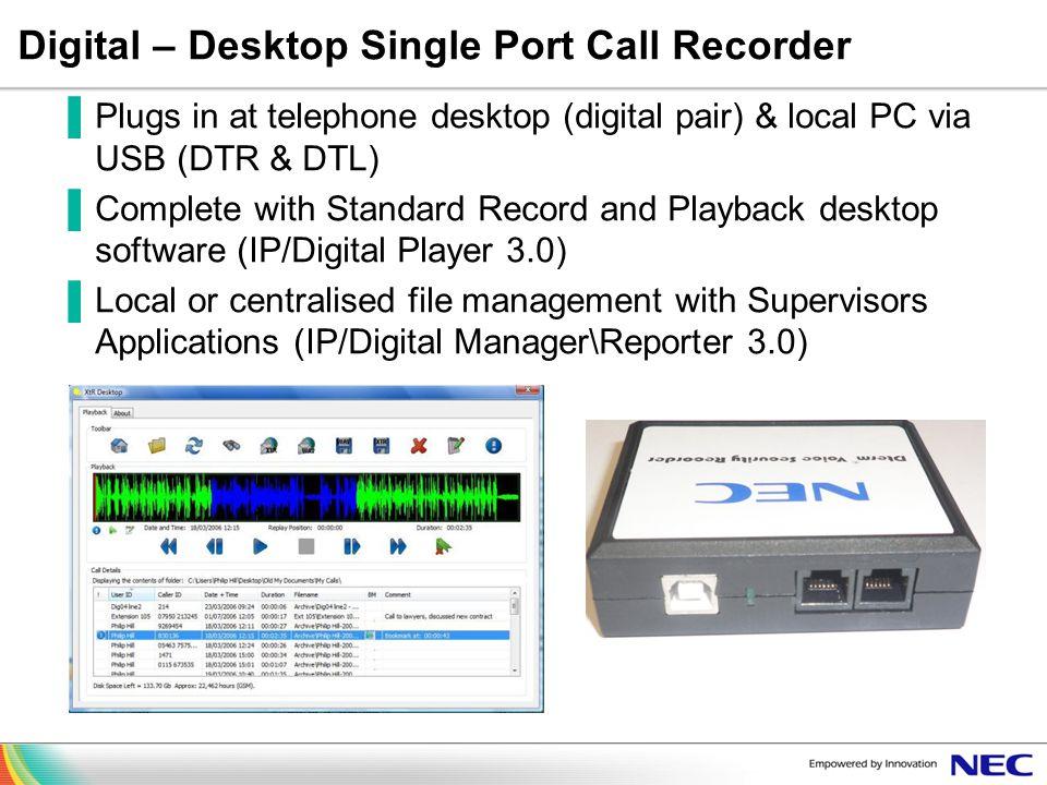 Digital – Desktop Single Port Call Recorder