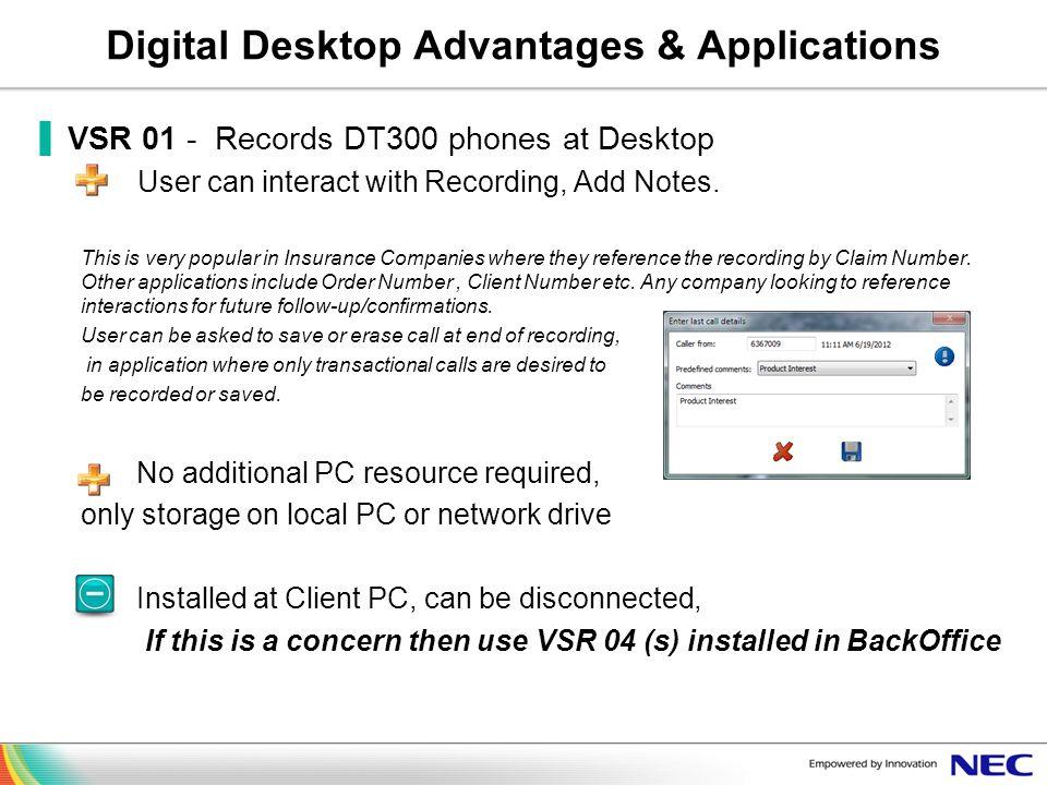 Digital Desktop Advantages & Applications