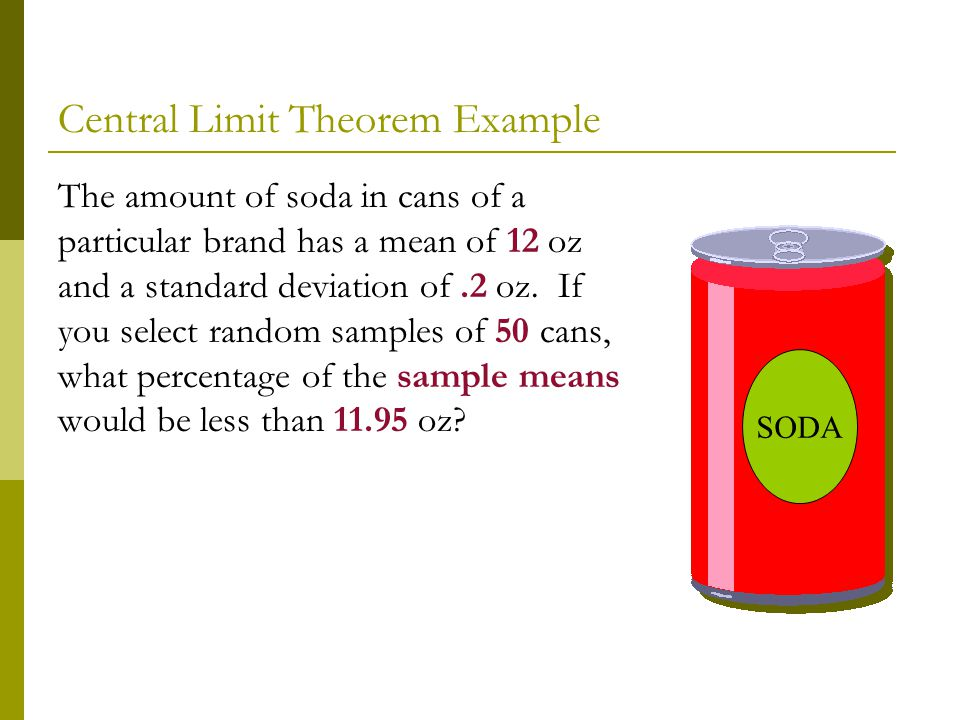 Central Limit Theorem Example