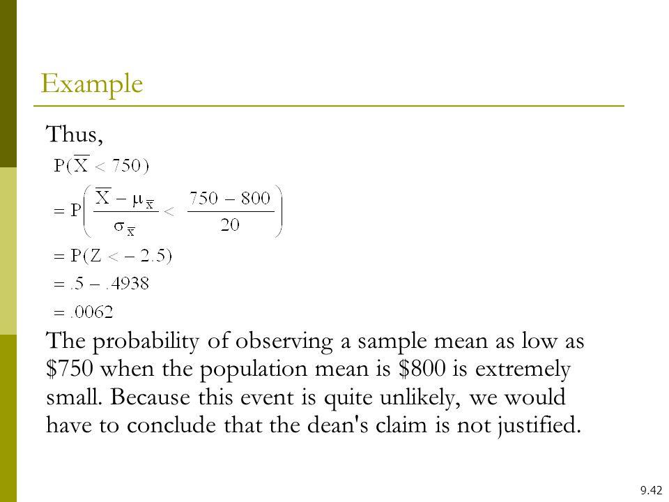 Example Thus,