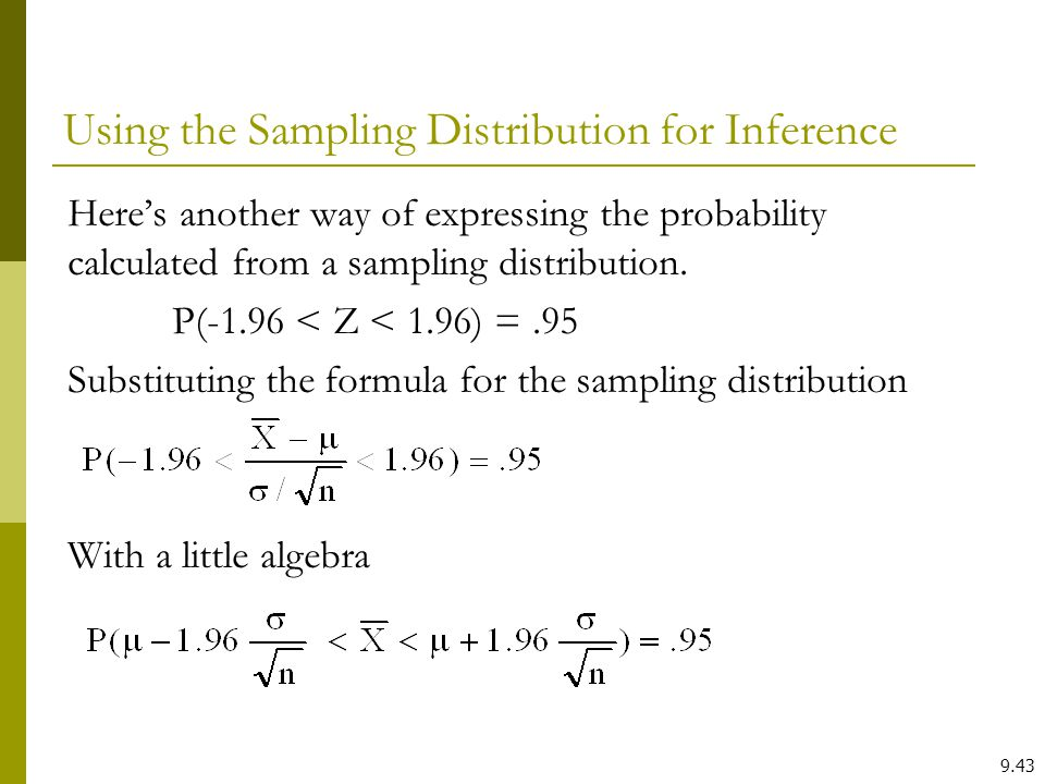 Using the Sampling Distribution for Inference