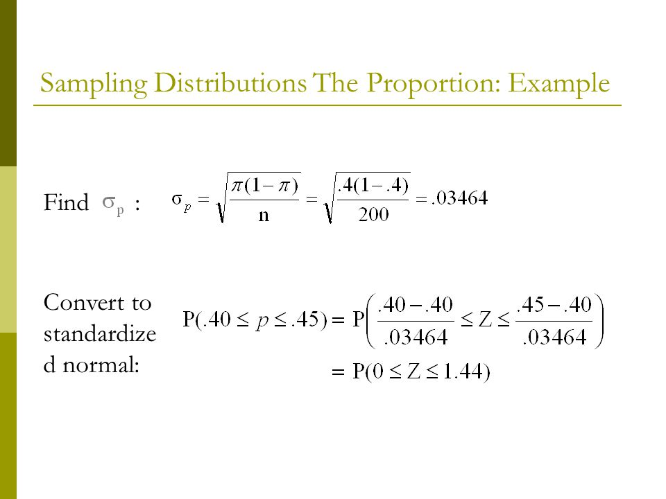 how to find sample proportion