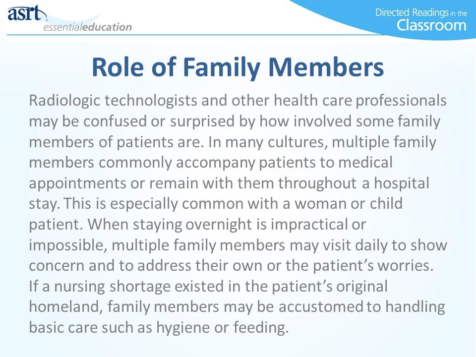 Role of Family Members