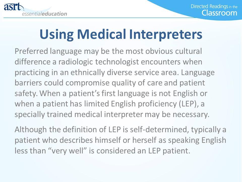 Using Medical Interpreters