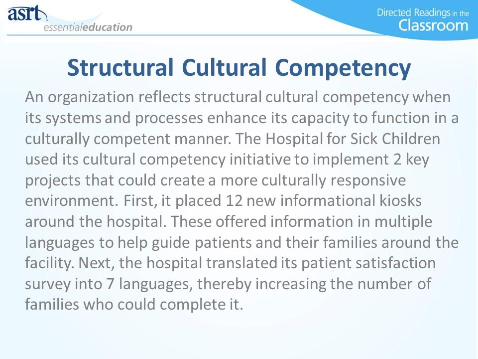 Structural Cultural Competency
