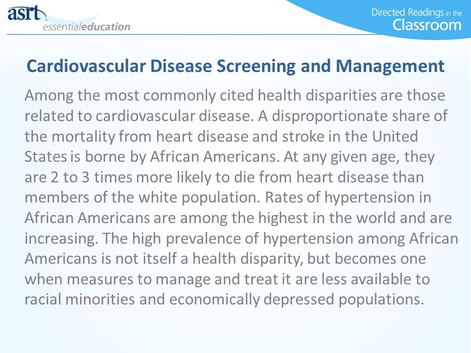 Cardiovascular Disease Screening and Management