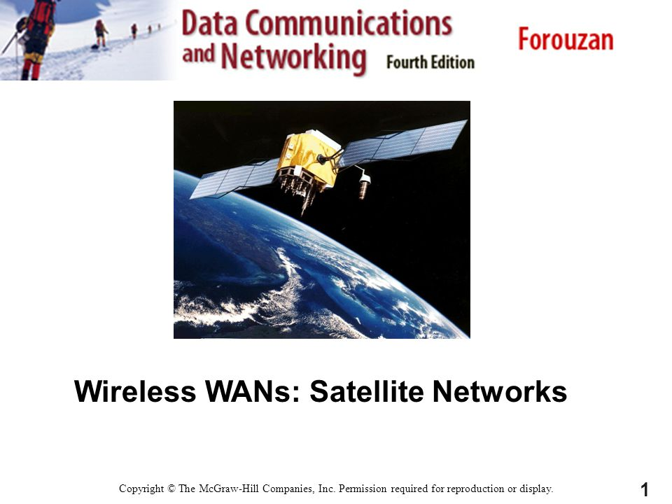 Wireless WANs: Satellite Networks