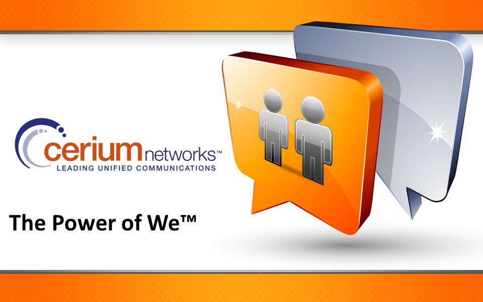 The Power of We™ Call to action:
