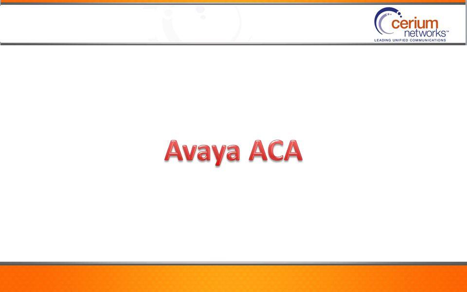 Avaya ACA