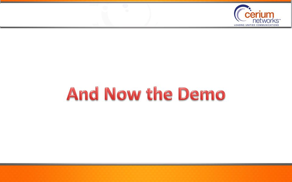 And Now the Demo