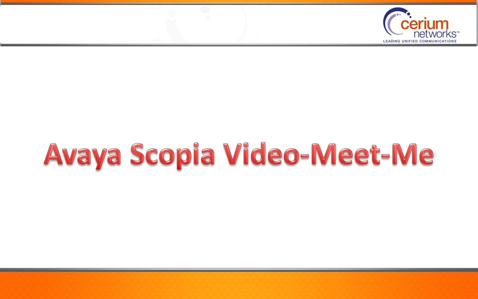 Avaya Scopia Video-Meet-Me