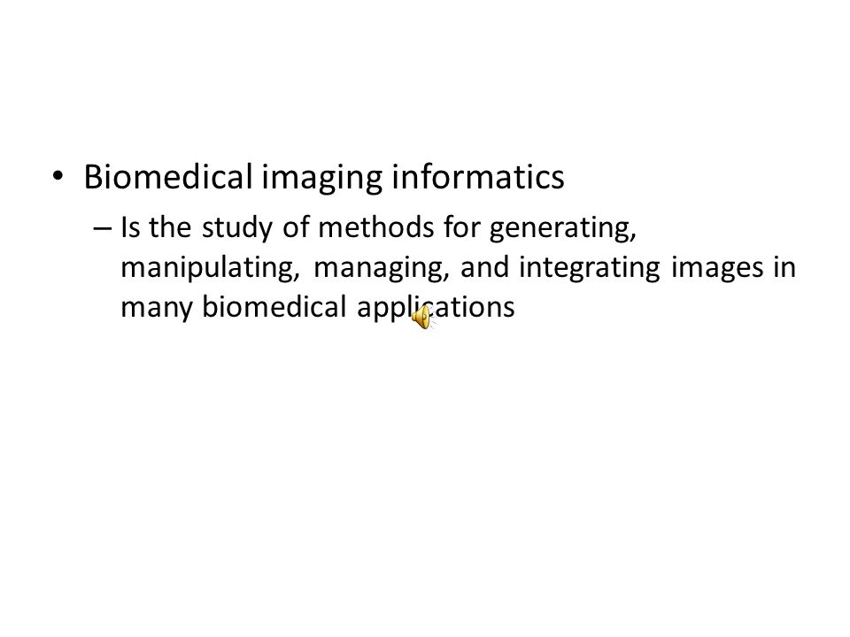 Biomedical imaging informatics