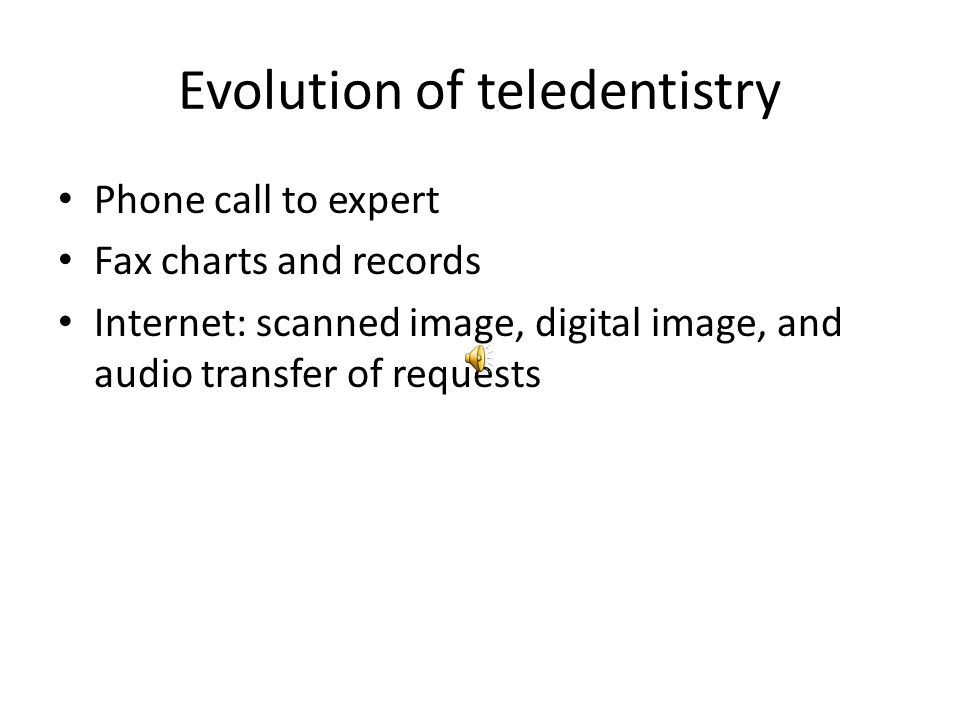 Evolution of teledentistry