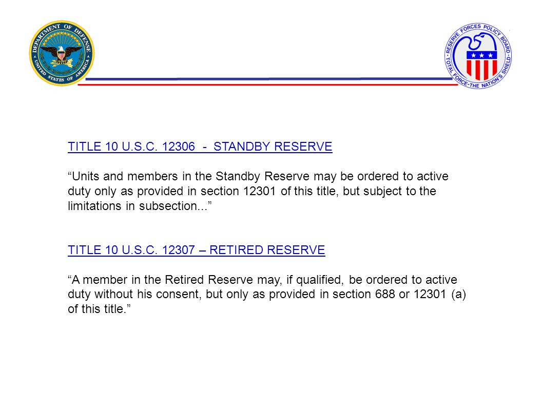 TITLE 10 U.S.C. 12306 - STANDBY RESERVE
