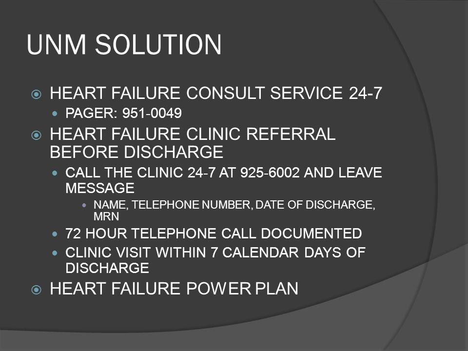 UNM SOLUTION HEART FAILURE CONSULT SERVICE 24-7