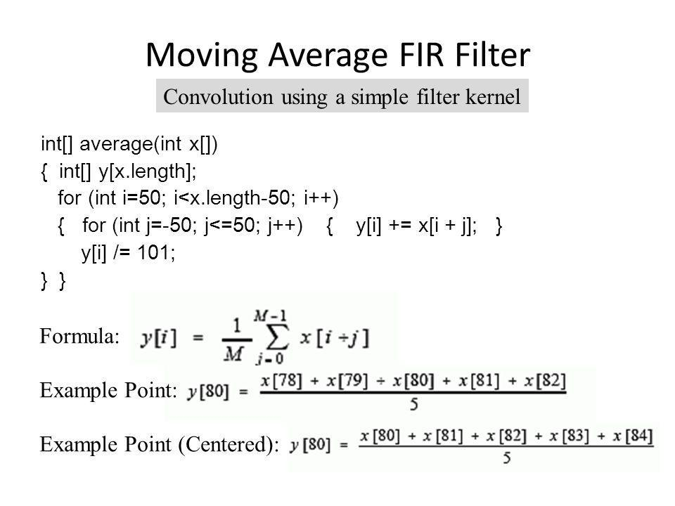 Moving Average FIR Filter