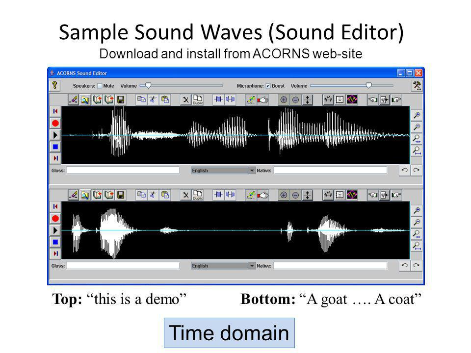 Sample Sound Waves (Sound Editor)