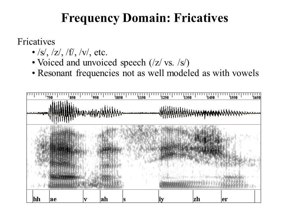 Frequency Domain: Fricatives