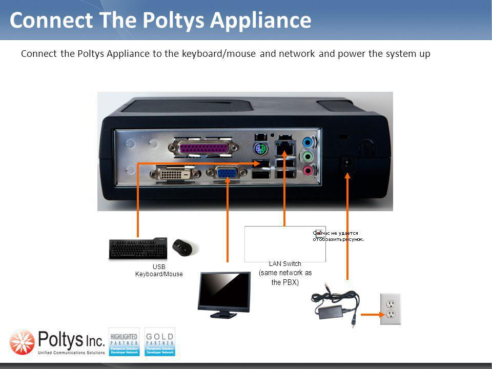Connect The Poltys Appliance