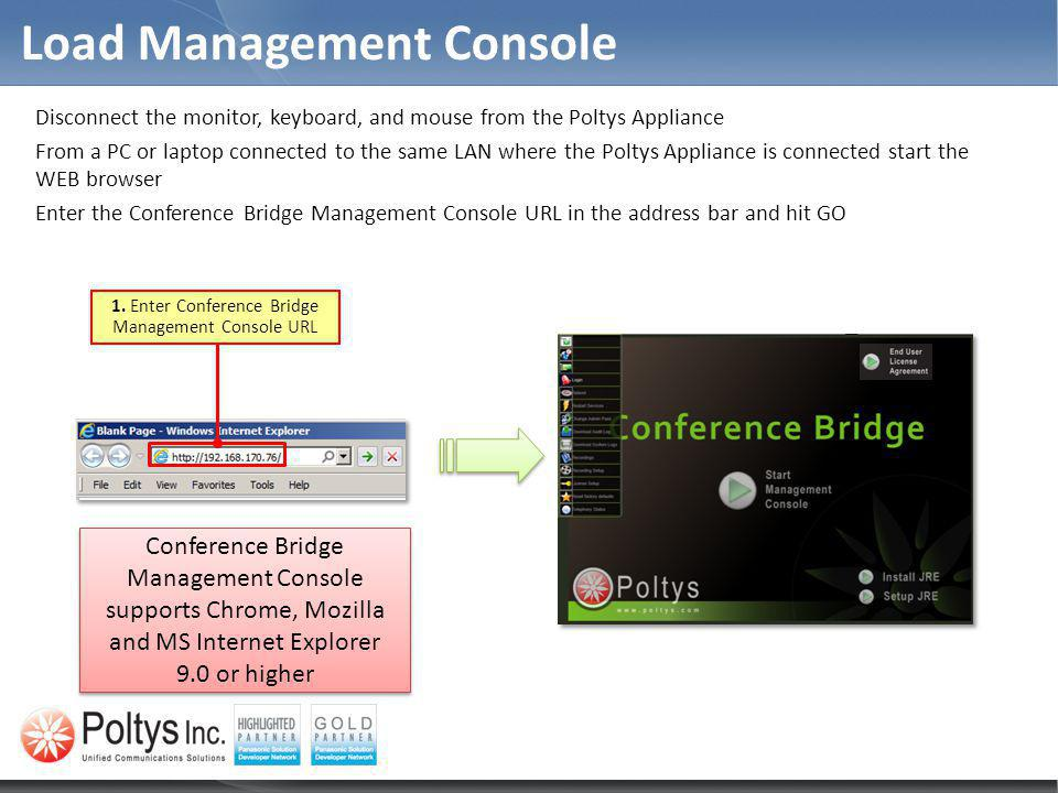 Load Management Console