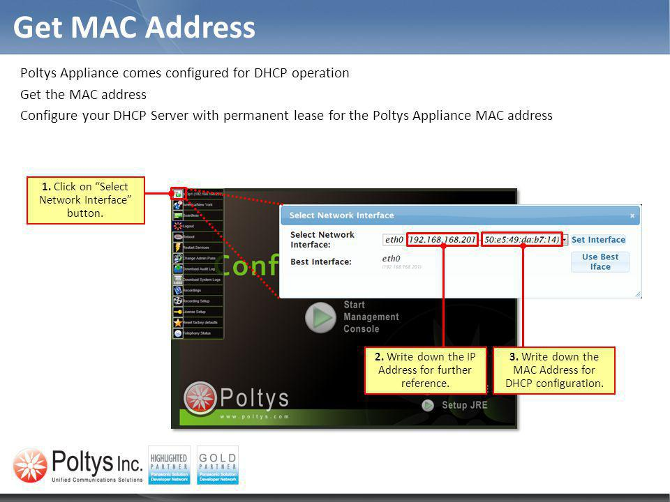 Get MAC Address