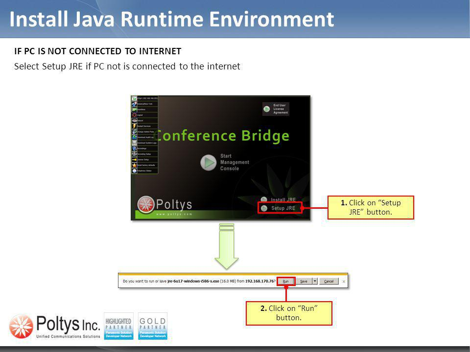 Install Java Runtime Environment