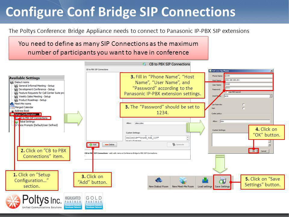 Configure Conf Bridge SIP Connections