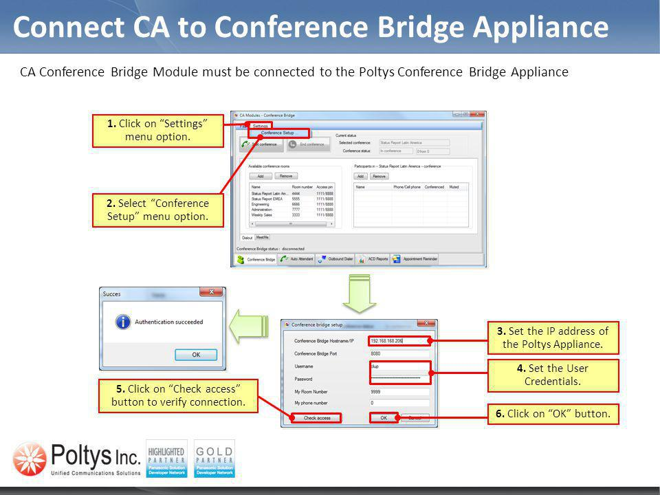 Connect CA to Conference Bridge Appliance