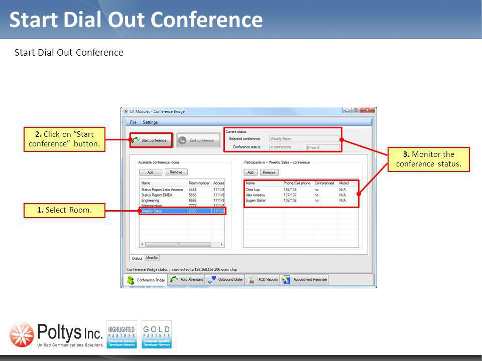 Start Dial Out Conference