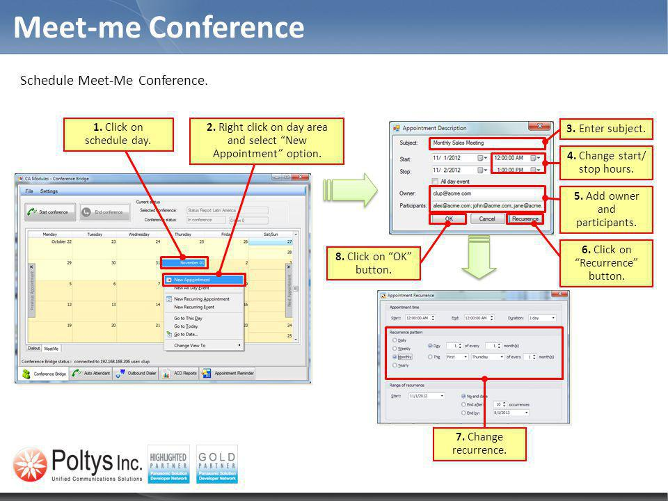 Meet-me Conference Schedule Meet-Me Conference.