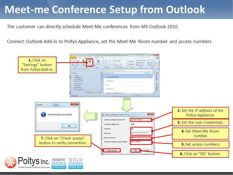 Meet-me Conference Setup from Outlook