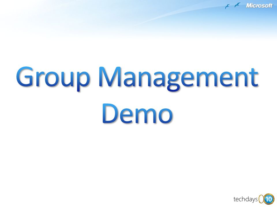 Group Management Demo