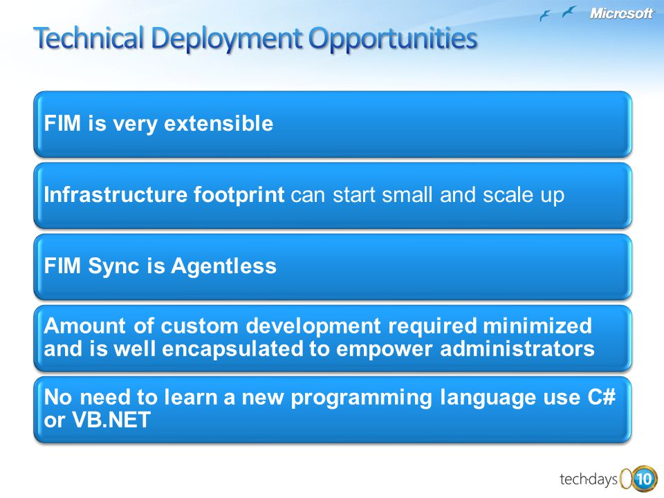 Technical Deployment Opportunities
