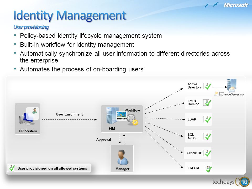 Identity Management User provisioning