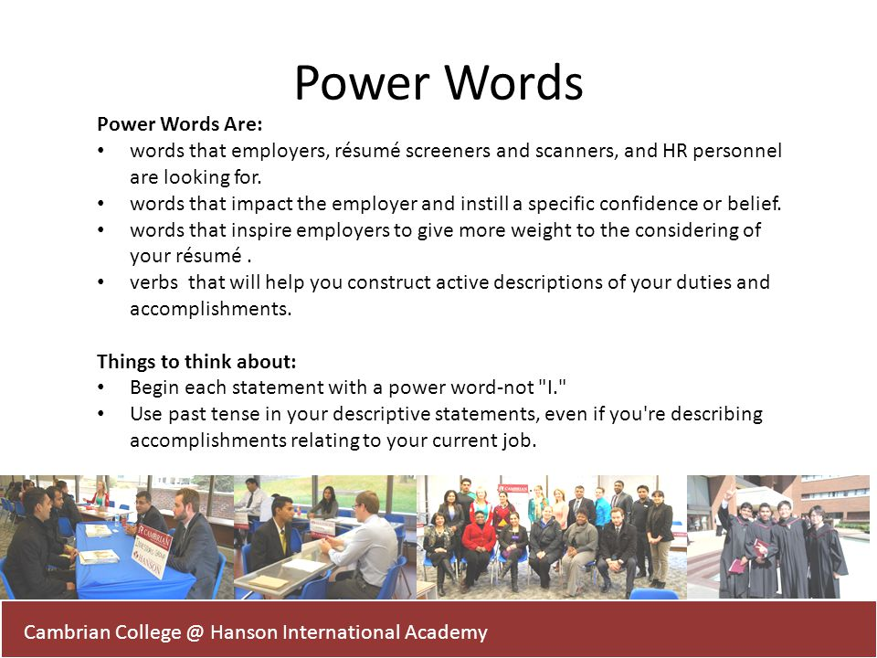 Power Words Power Words Are: