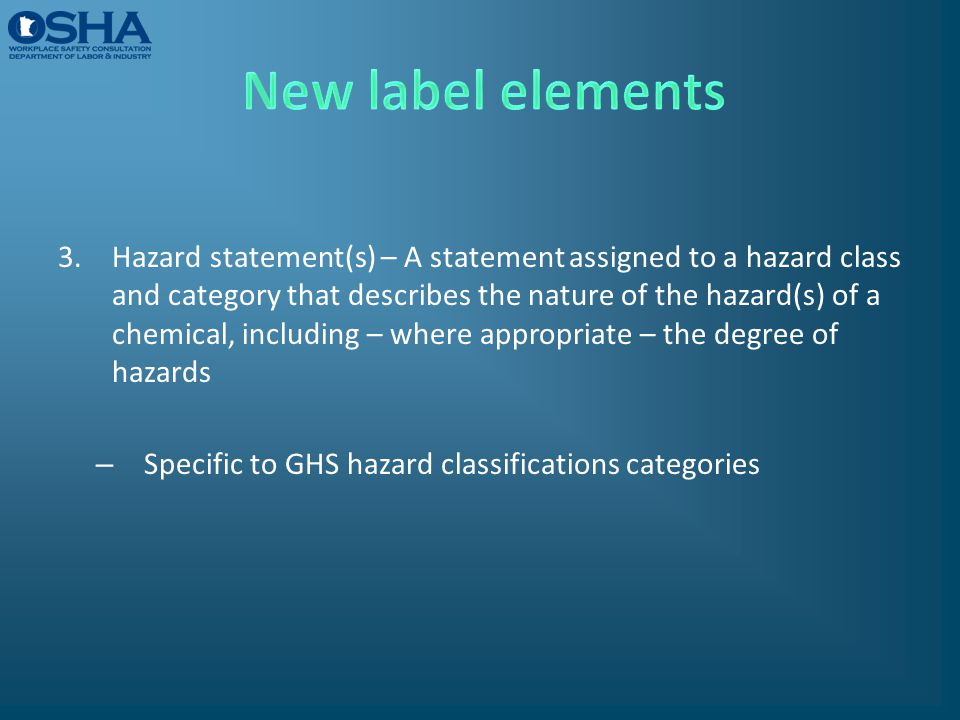 New label elements