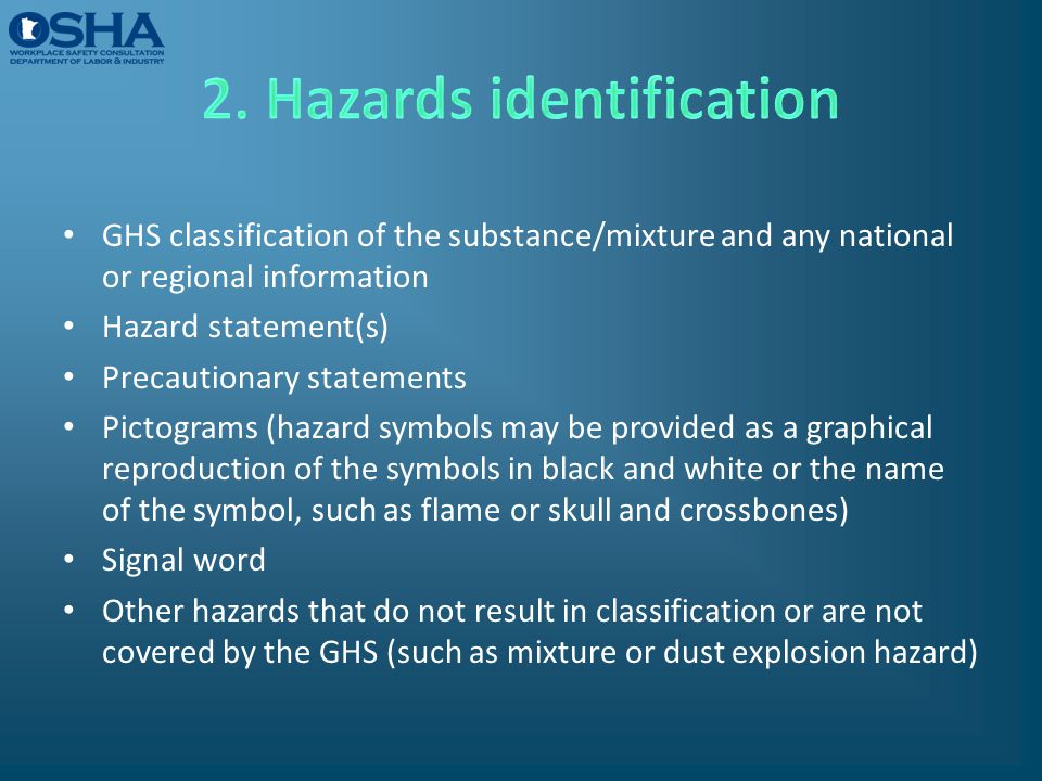 2. Hazards identification