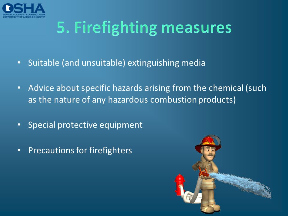 5. Firefighting measures