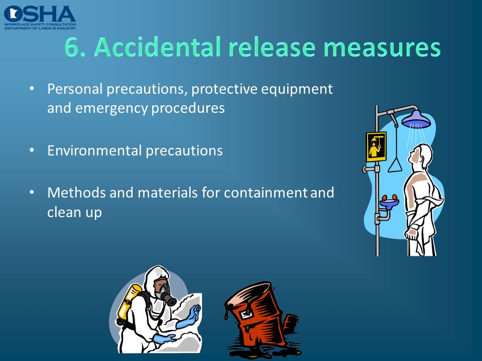 6. Accidental release measures