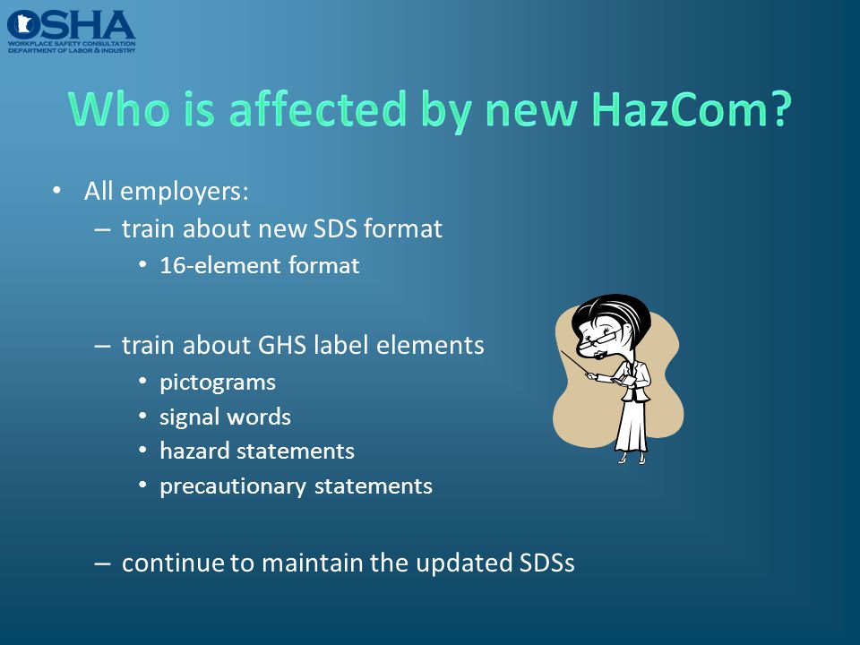 Who is affected by new HazCom