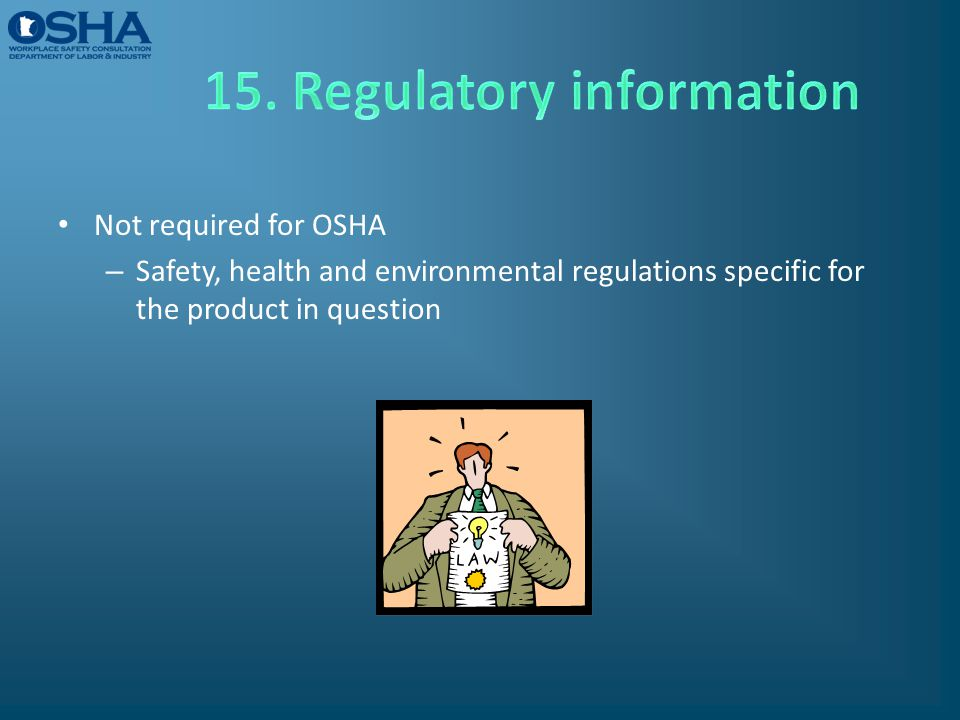 15. Regulatory information
