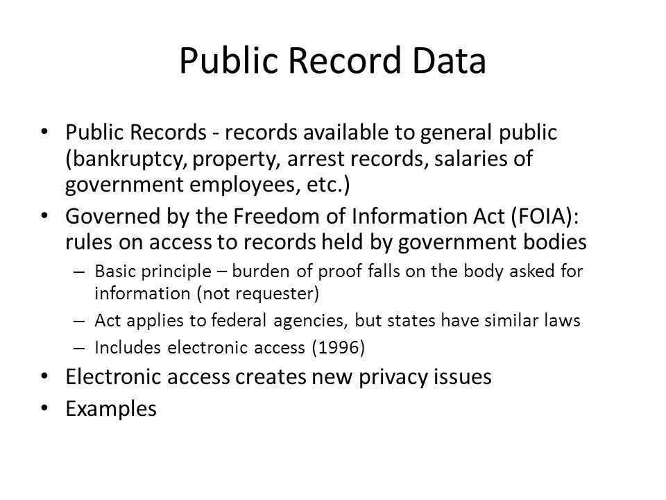 Public Record Data