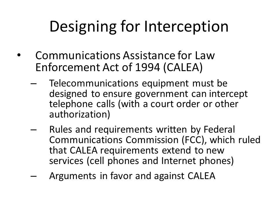 Designing for Interception